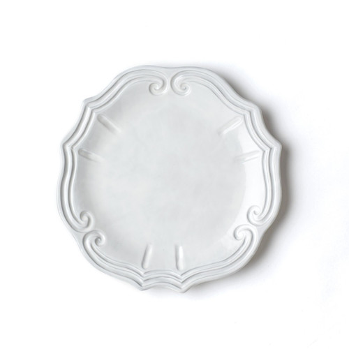 "Inspired by the architectural curves of 17th century Europe, the Incanto Baroque European Dinner Plate brings authentic Italian style to your table with an element of casusal sophistication. Mix and match with other Incanto designs to express your own unique style. 11""D INC-1116C"