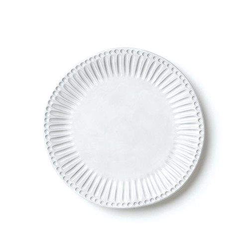 "Reminiscent of the stately columns of Palladian villas along the Brenta River, the Incanto Stripe European Dinner Plate elevates everyday dinners to an occasion of casual elegance. Mix and match with other Incanto designs to create your own unique place setting. 11""D INC-1116A"
