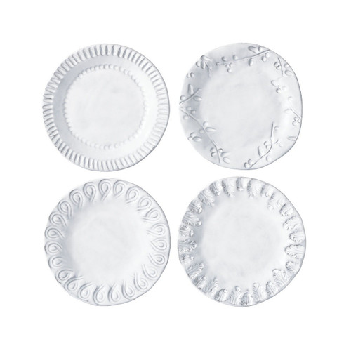 "The collection of Incanto White Assorted Canape Plates which will create a unique setting on your table. Mix and match with other Incanto designs to create a layered and dynamic look. 6.5"" D INC-1119"