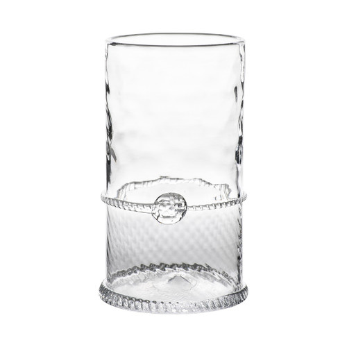 "Graham Highball  № B320/C  From our Graham Collection - This tall drink of water is neatly trimmed and beveled for a splash of understated elegance that provides just the right amount of dazzle. Lovely for iced tea at a summer Ladies Luncheon or to unwind with your favorite gin fizz, or cocktail at the end of a long day.d  Measurements: 5.5"" H Capacity: 16 ounces Made in Czech Republic Dishwasher safe, Warm gentle cycle. Not suitable for hot contents, freezer or microwave use."
