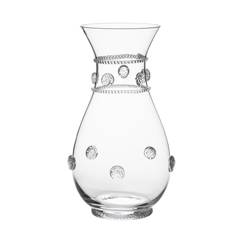 "Isabella Carafe/Vase  № B358/C  From our Isabella Collection - Wine and roses are a classic pairing - this versatile vessel is perfect for either and makes a divine gift for those who treasure life's little luxuries.  Measurements: 9.5"" H Capacity:  1.5 quarts Made in Czech Republic Dishwasher safe, Warm gentle cycle. Hand washing is recommended for large or highly decorated pieces Not suitable for hot contents, freezer or microwave use."