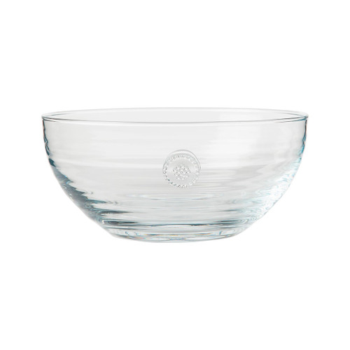 """Berry & Thread 8.5"""" Bowl  № B708/C  From our Berry & Thread Collection - Filled with scoops of ice cream or seashells and a candle, our versatile mouth blown Berry & Thread bowl is a household essential.  Measurements: 8.5"""" W, 4"""" H Capacity: 2 quarts Made in Portugal Dishwasher safe. Warm gentle cycle. Hand washing is recommended for large or highly decorated pieces Not suitable for hot contents, freezer or microwave use"""