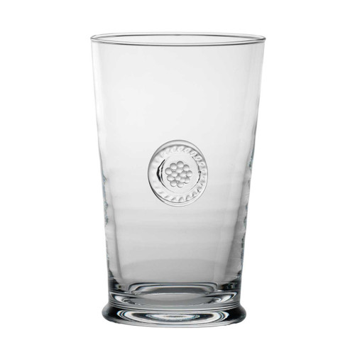 """Berry & Thread Highball  № B704/C  From our Berry & Thread Collection - Fizz, swizzle, sip, relax. Our handsome highball crafted in Portugal from mouth blown glass is a celebrated treat at the end of your day. Thicker glass and elegant style make this versatile and classic vessel an essential addition to your everyday drinkware collection.  Measurements: 3.25"""" W, 5.5"""" H Capacity: 14 ounces Made in Portugal Dishwasher safe. Warm gentle cycle. Not suitable for hot contents, freezer or microwave use"""