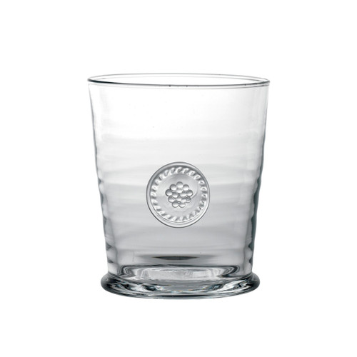 "Berry & Thread Double Old Fashioned Glass  № B703/C  From our Berry & Thread Collection - An after work single malt scotch or classic cocktail poured in our handsome glass grips like a gentleman's handshake. Firm, cool and forthright, this glass is a timeless addition to your barware collection.  Measurements: 3.5"" W, 4.75"" H Capacity: 13 ounces Made in Portugal Dishwasher safe. Warm gentle cycle. Not suitable for hot contents, freezer or microwave use"