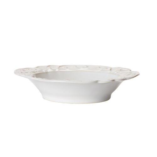 """№ JMX08/10 From our Jardins du Monde Collection - This fluted and scalloped bowl is a fresh take on historic decadence and makes a beautiful frame for whatever it contains - from green gazpacho garnished with pea tendrils to spaghetti with artichokes and pancetta.  Product Measures: 9.5"""" W, 2"""" H Capacity: 16 ounces Made of Ceramic stoneware Oven, Microwave, Dishwasher, and Freezer Safe Made in Portugal"""