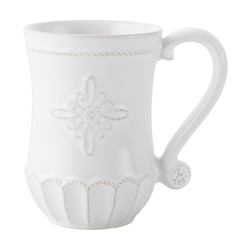 "№ JMX06X/10 From our Jardins du Monde Collection - Emblematic of the fountains found at the heart of lush European gardens, our regal medallion dresses up your morning coffee with a little splash of splendor.  Product Measures: 3.5"" W, 5"" H Capacity: 12 ounces Made of Ceramic stoneware Oven, Microwave, Dishwasher, and Freezer Safe Made in Portugal"