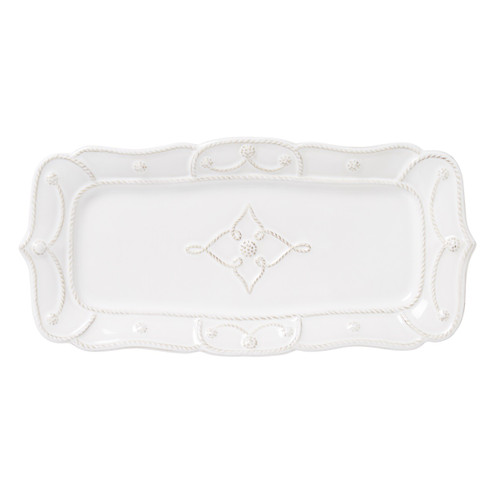 """№ JMX24/10 From our Jardins du Monde Collection - This versatile confection of a tray puts a refined touch on anything it contains: from the everyday (scribbled notes, pocket contents), to cherished (favorite photographs, pencil sketches), to delectable (freshly baked treats, passed appetizers). Makes a beautiful gift - if you can bear to part with it.  Product Measures: 14.5"""" L, 7"""" W Made of Ceramic stoneware Oven, Microwave, Dishwasher, and Freezer Safe Made in Portugal"""
