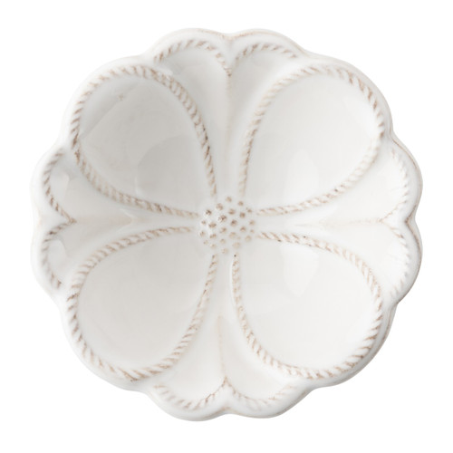 """№ JMX80Z/10 From our Jardins du Monde Collection - This bewitching bowl is draped in an oversized blossom and is a perfect pick for a handful of bonbons as you read your favorite novel. Our ceramic stoneware is made in Portugal and is microwave, dishwasher, oven, and freezer safe.  Product Measures: 4"""" W Capacity: 3 ounces Made of Ceramic stoneware Oven, Microwave, Dishwasher, Freezer Safe Made in Portugal"""