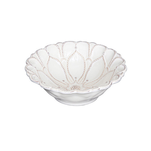 "№ JMX80X/10 From our Jardins du Monde Collection - Reminiscent of the ruffled layers of petals from a fragrant tea rose, this winsome bowl was designed to please the senses and provide a lovely resting place for sugared berries, summer puddings, and other decadent offerings. Our ceramic stoneware is made in Portugal and is microwave, dishwasher, oven, and freezer safe.  Product Measures: 6"" W Capacity: 8 ounces Made Ceramic stoneware Oven, Microwave, Dishwasher, Freezer Safe Made in Portugal"