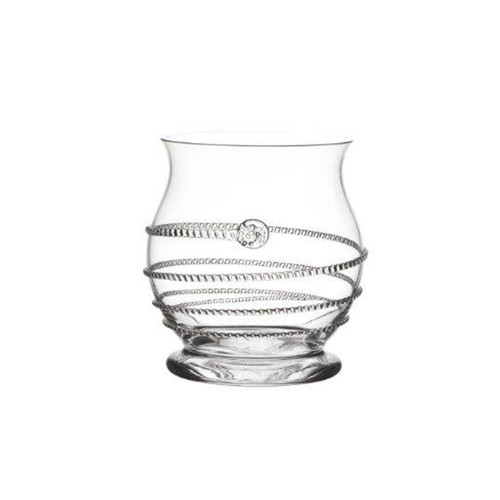 """Amalia Votive/Vase  № B468A/C  From our Amalia Collection- Let dancing candlelight set the scene for a romantic night with this votive, which can also be used as a vase for petite floral arrangements. Our most prolific Bohemian mouth-blown glass collection features an iconic spiral themed design ascending from its base accented with our signature berry.     Measurements: 4.5"""" H Capacity: 16 ounces Made of Mouth-Blown Glass Dishwasher safe, on a warm gentle cycle. Hand washing preferred Made in Czech-Republic"""