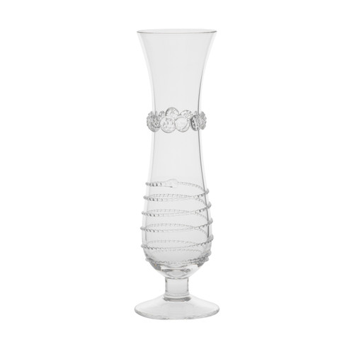 """Amalia Footed Bud Vase  № B457A/C  From our Amalia Collection - Curvaceous and flirtatious, this bud vase offers a graceful pedestal to showcase your most romantic blooms.  Measurements: 2"""" W, 8"""" H Capacity: 8 ounces Made in Czech Republic Dishwasher safe, Warm gentle cycle. Hand washing is recommended for large or highly decorated pieces Not suitable for hot contents, freezer or microwave use."""