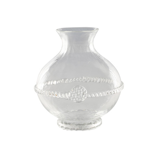 """Graham Mini Vase  № B355/C  From our Graham Collection - Dapper as a country gentleman, this rotund vase in cinched with a thread and fastened with a berry. Adds a touch of refinement to wildflowers brought inside after a stroll through a meadow. This item comes pre-boxed for chic and easy gift-giving.  Measurements: 3.5"""" W, 4.5"""" H Capacity: 10 ounces Made in Czech Republic Dishwasher safe, Warm gentle cycle. Not suitable for hot contents, freezer or microwave use."""