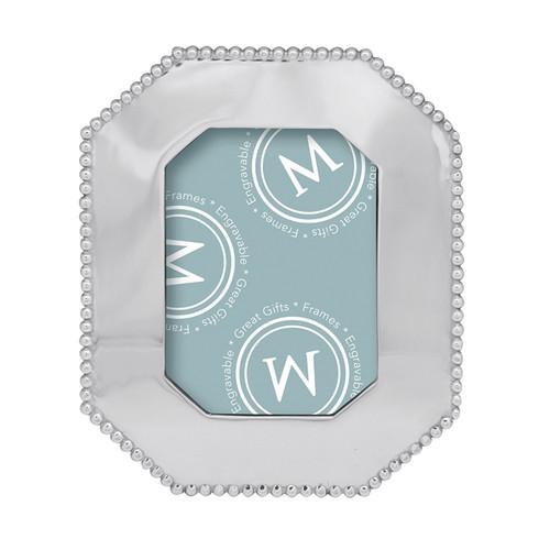 Display cherished memories with our unique Pearled Octagonal 5x7 Frame. Makes a fabulous addition to any home or gift idea for any occasion. Add a modern touch and personalize it with a special message, name or date. Recycled Sandcast Aluminum DETAILS & PRODUCT CARE Dimensions: 8.25in L x 10.25in H
