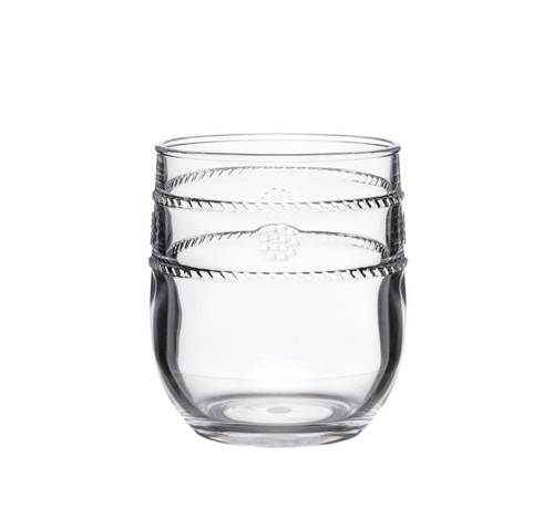 """Juliska Al Fresco Isabella Acrylic Tumbler MA302/01 From Juliska's Al Fresco Collection from plumpuddingkitchen.com - The unique shape of our acrylic drinkware allows for versatility across all beverages, making our tumbler ideal for everything from a double old fashioned to ice water. In our iconic bohemian Isabella motif, our acrylic was designed with the adventurous entertainer in mind.     Measurements: 3.5"""" W x 4"""" H Capacity: 8 ounces Made of Acrylic, BPA free Dishwasher safe, top shelf recommended Imported"""