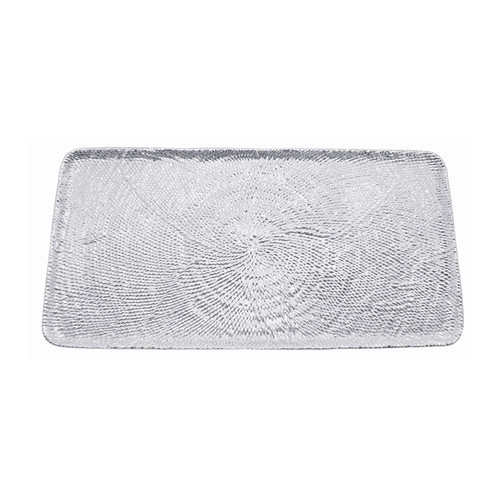 The Mustique Long Rectangular Platter, a unique work of art, is inspired by the fresh aesthetic of the notable Caribbean island. With its intricately woven texture and generous size, it is the perfect addition for serving family-size meals, indoors or out. Handcrafted from 100% recycled aluminum. Recycled Sandcast Aluminum DETAILS & PRODUCT CARE Dimensions: 17.28in L x 8.43in W x .63in H Product Care: Our fine metal is handcrafted from 100% recycled aluminum. All items are food-safe and will not tarnish. Handwash in warm water with mild soap and towel dry immediately. Do not place in dishwasher or microwave. Avoid extended contact with water, salty or acidic foods; coat lightly with vegetable oil or spray to easily avoid staining. Warm to 350 degerees for hot foods. Freeze or chill for summer entertaining. Cutting directly on the metal surface will scratch the finish. Occasional use of non-abrasive metal polish will revive luster.