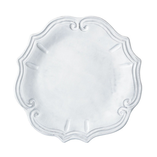 "Mix and match the Incanto White Baroque Dinner Plates with our other patterns in Incanto to create your own unique setting. 12""D INC-1100C"