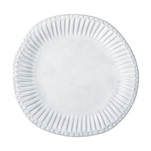 "Mix and match the Incanto White Stripe Dinner Plate with other designs to create your own unique setting. 12""D INC-1100A"