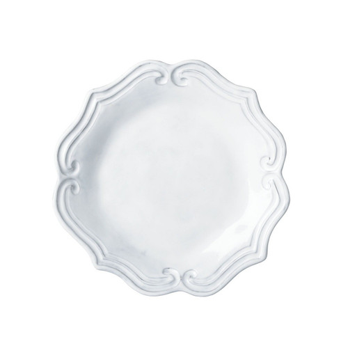 """Mix and match the Incanto White Baroque Salad with other Incanto designs to create your own unique setting. 9"""" D INC-1101C"""