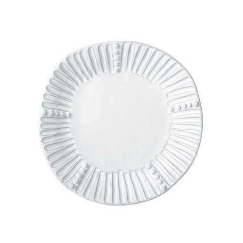 """Mix and match the Incanto White Stripe Salad Plate with other salad and dinner plates to create your own unique setting. 9""""D INC-1101A"""