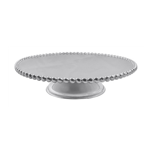 We have a gift for tradition, reimagined, in our String of Pearls collection. Our classic String of Pearls pedestal, with its brilliant gleam, provides a lovely stage for cakes, pies, pastries or assorted appetizers. Recycled Sandcast Aluminum DETAILS & PRODUCT CARE Dimensions: 3in H Product Care: Our fine metal is handcrafted from 100% recycled aluminum. All items are food-safe and will not tarnish. Handwash in warm water with mild soap and towel dry immediately. Do not place in dishwasher or microwave. Avoid extended contact with water, salty or acidic foods; coat lightly with vegetable oil or spray to easily avoid staining. Warm to 350 degerees for hot foods. Freeze or chill for summer entertaining. Cutting directly on the metal surface will scratch the finish. Occasional use of non-abrasive metal polish will revive luster.