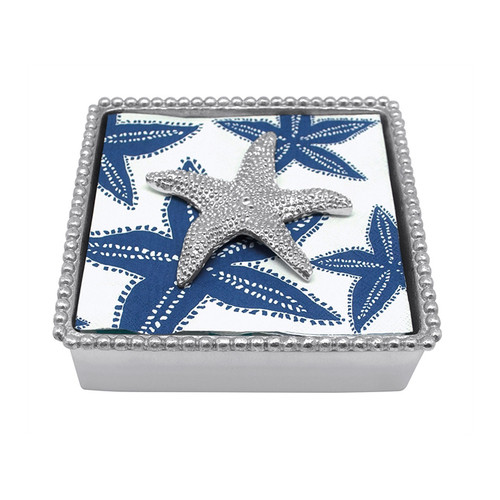 Starfish Beaded Napkin Box