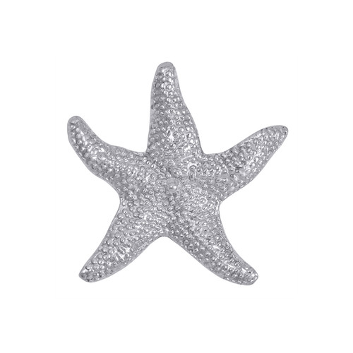 Bring undersea treasures to your table with our Seaside collection. The gently sculpted Starfish Napkin Weight serves as a token of your best beach day or keeps napkins from blowing away at a seaside picnic. Recycled Sandcast Aluminum DETAILS & PRODUCT CARE Dimensions: 3.5in L Product Care: Our fine metal is handcrafted from 100% recycled aluminum. All items are food-safe and will not tarnish. Handwash in warm water with mild soap and towel dry immediately. Do not place in dishwasher or microwave. Avoid extended contact with water, salty or acidic foods; coat lightly with vegetable oil or spray to easily avoid staining. Warm to 350 degerees for hot foods. Freeze or chill for summer entertaining. Cutting directly on the metal surface will scratch the finish. Occasional use of non-abrasive metal polish will revive luster.