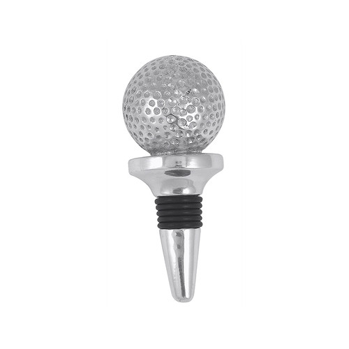 Celebrate tee time then save some libations for the back nine by capping the bottle with our finely detailed Golf Ball Bottle Stopper handcrafted from 100% recycled aluminum. Recycled Sandcast Aluminum DETAILS & PRODUCT CARE Dimensions: 4in W Product Care: Our fine metal is handcrafted from 100% recycled aluminum. All items are food-safe and will not tarnish. Handwash in warm water with mild soap and towel dry immediately. Do not place in dishwasher or microwave. Avoid extended contact with water, salty or acidic foods; coat lightly with vegetable oil or spray to easily avoid staining. Warm to 350 degerees for hot foods. Freeze or chill for summer entertaining. Cutting directly on the metal surface will scratch the finish. Occasional use of non-abrasive metal polish will revive luster.