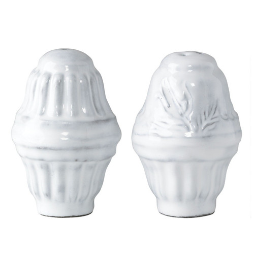 """The Incanto Collection draws its inspiration from the best art and architecture of Italy, and the Incanto White Salt and Pepper Shakers are the perfect touch for any table setting. 3""""H INC-1108"""