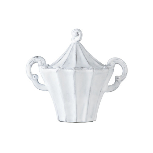 "Inspired by Italian architecture, the Incanto White Stripe Sugar Bowl is a charming addition to your table. 5.75""H INC-1112"