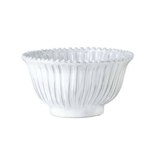 """The Incanto White Stripe Small Serving Bowl is one of our most popular pieces. Inspired by Italian architecture, it's a beautiful bowl in any Incanto collection. 7.5""""D, 4""""H INC-1130"""