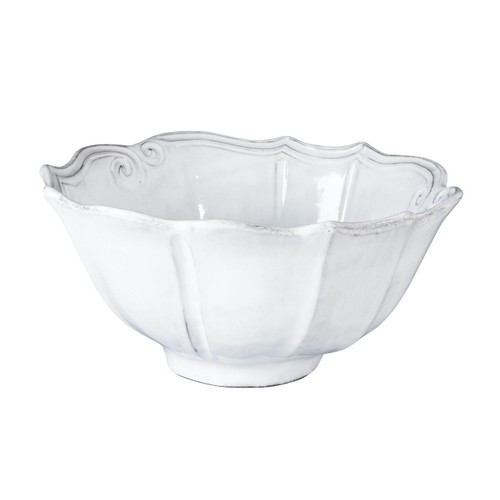 "The Incanto White Baroque Medium Serving Bowl is inspired by Italian architecture and is a wonderfully sized bowl to have in your Incanto collection. 10.5""D, 5""H INC-1137"