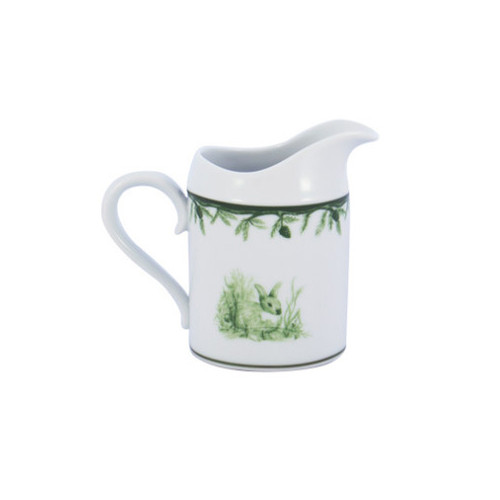 "C.E. Corey Forest Sugar Bowl  Perfect for casual or upscale dining, this high-fired, handmade porcelain collection features a forest scene of a proud buck standing tall amidst pine-cones in tones of green and will bring to life any table setting.  CEF-4012  3.75""H"