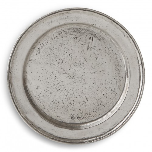"""Like all of our Vintage pieces our Vintage Charger is cast from an antique mold. The marks you see through out the charger are in the mold and add to its unique and vintage appeal. Beautiful under all of our dinnerware collections.   Hand made in Italy. Dishwasher safe on the low-heat setting.  Dimensions: 12.75"""" D SKU: VIN2247"""