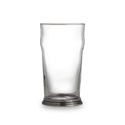 "The Taverna Collection evokes the tradition of meeting friends and family at the local tavern to socialize. Bring that tradition to your home with our new beer glasses! This lager glass is the perfect piece for your favorite brew and makes a perfect gift for any beer lover! Italian pewter and glass, Hand made in Italy.  Hand wash only.  Dimensions: 3.25"" D X 6"" H, 16 OZ SKU: P2919"
