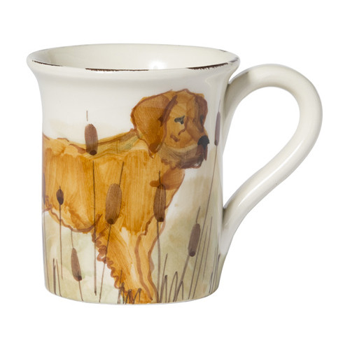 "Vietri Wildlife Hunting Dog Mug  WDL-7810GR  4.5""H, 14oz"