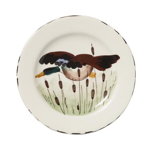 Vietri Wildlife Mallard Salad Plate  WDL-7801M