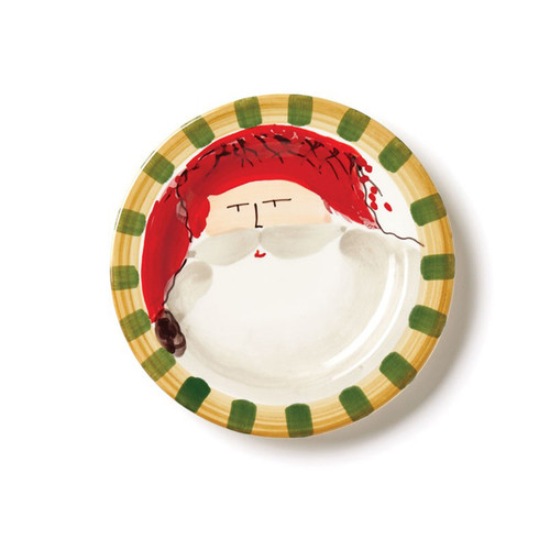 "Set your table in holiday style this season with the Old St. Nick Round Salad Plate, featuring Babbo Natale wearing a Red Hat. 8.5""D OSN-7802A"