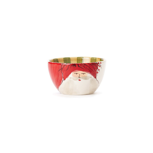 "Set your table in holiday style this season with the Old St. Nick Cereal Bowl, featuring Babbo Natale wearing a Red Hat. Serve soup, cereal, and salads with whimsical flare all season long. 5.5""D, 3.25""H OSN-78051A"