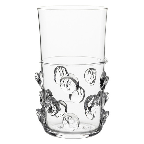 Florence Highball № B242/C From Juliska's Florence Collection- Redesigned for ease of use, the historic Bohemian 'Prunt' motif of indulgent droplets on this substantial tumbler from plumpuddingkitchen.com are opulent, fun and irresistibly tactile.