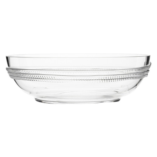 "Dean 10"" Serving Bowl  № B491/C From Juliska's Dean Collection- Our mouth-blown glass is adorned with a ring of subtle glass rope on this sublime serving bowl from plumpuddingkitchen.com . Place this atop your well-stocked bar or on a sideboard as a lovely and functional accessory."