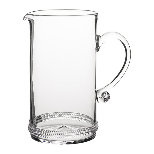 Dean Pitcher  № B486X/C From Juliska's Dean Collection- Mouth-blown glass adorned with a ring of subtle rope compliment this versatile pitcher from plumpuddingkitchen.com, perfect for tableside water service or a bouquet of your favorite fresh flowers.