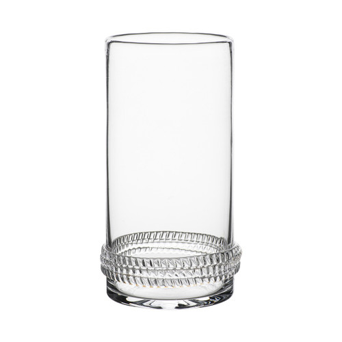Dean Highball  № B471/C From Juliska's Dean Collection - From gin and tonics to fizzing seltzer, or iced tea, this mouth blown highball from plumpuddingkitchen.com, encircled in a glass rope base is the quintessential entertaining glass. Chic yet durable, our Dean Highball begs to be used everyday.