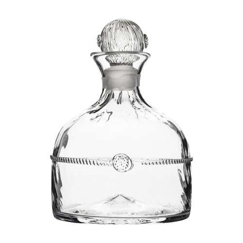 Graham Whiskey Decanter  № B275/C From Juliska's Graham Collection- Crowned with a simple thread and single berry, dressed in optic glass from the waist down and belted with a charming sash, this handsome decanter from plumpuddingkitchen.com is worthy of your best single malt.