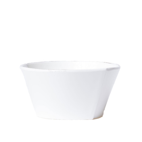 "Vietri Melamine Lastra Stacking Cereal Bowl  MLAS-W2302 6""D, 3""H  Lastra's unique silhouettes and rustic elements take a new form in Melamine Lastra from plumpuddingkitchen.com. Lightweight yet sturdy with a glossy finish, this collection is ideal for outdoor use or meals with children."