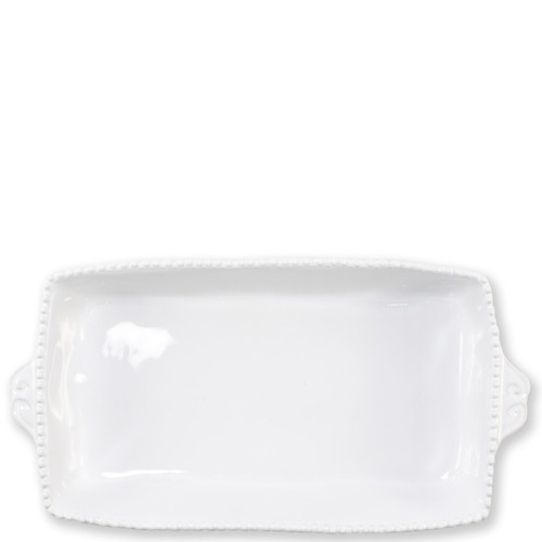 "Vietri Incanto Stone Stripe Rectangular Baking Dish  SINC-W1161 15.25""L, 8""W, 2.75""H Classic and enchanting, the beautiful designs of VIETRI's beloved Incanto collection from plumpuddingkitchen.com evolve in a new, durable stoneware."