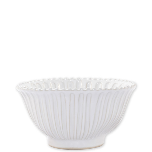 "Vietri Incanto Stone Stripe Small Serving Bowl  SINC-W1130 7.5""D, 4""H  Classic and enchanting, the beautiful designs of VIETRI's beloved Incanto collection from plumpuddingkitchen.com evolve in a new, durable stoneware."