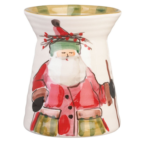 "The Old St. Nick Utensil Holder features the handpainted designs of maestro artisan Alessandro Taddei. 7"" H, 5.25"" D OSN-7881"