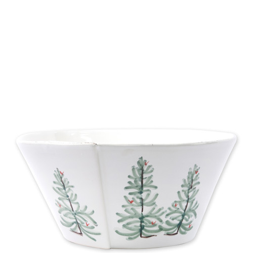 "Vietri Lastra Holiday Large Stacking Serving Bowl  LAH-26022 10.5""D, 5""H Make time for your loved ones this season when you gather around the cheerful design of Vietri's Lastra Holiday from plumpuddingkitchen.com!"