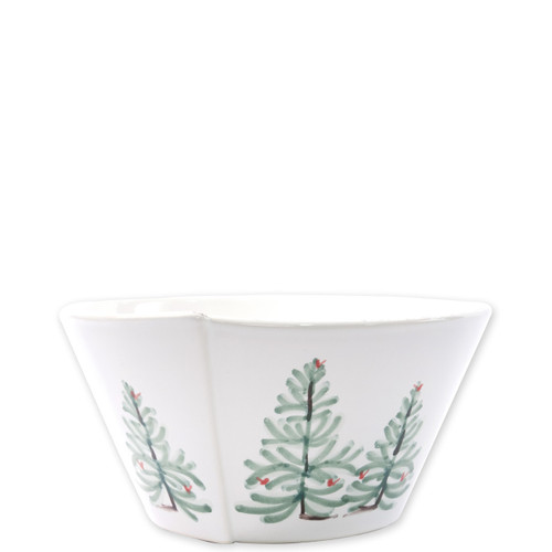 "Vietri Lastra Holiday Medium Stacking Serving Bowl  LAH-26021 8""D, 4""H  Make time for your loved ones this season when you gather around the cheerful design of Vietri's Lastra Holiday from plumpuddingkitchen.com!"