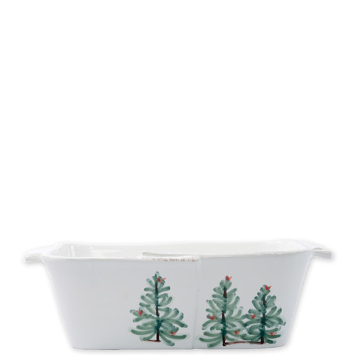 "Vietri Lastra Holiday Loaf Pan  LAH-2689 10.5""L, 5""W, 3""H  Make time for your loved ones this season when you gather around the cheerful design of Vietri's Lastra Holiday from plumpuddingkitchen.com!"